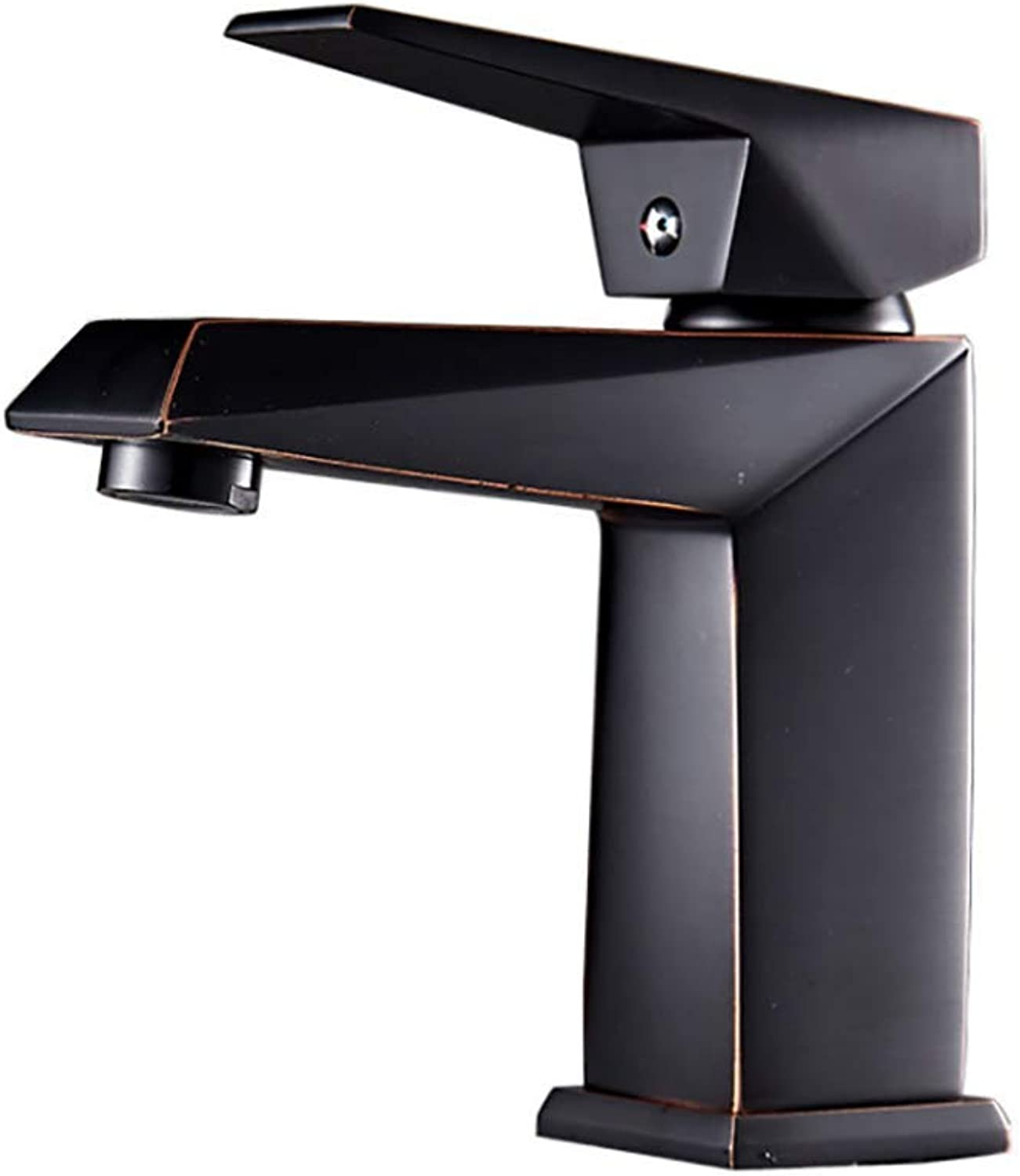 XIONGDA Black Ancient Bathroom Sink Faucet, All Copper Plated Hot and Cold Water Above Counter Basin Faucet Kitchen Sink Taps