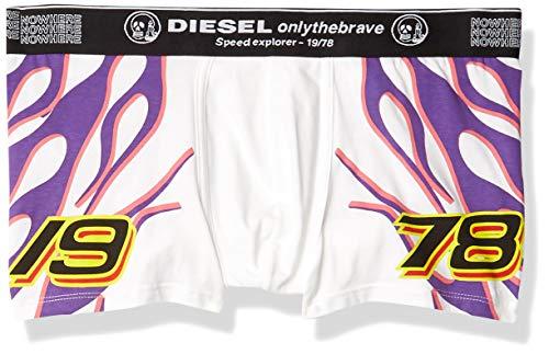 Diesel Men's UMBX-Damien Boxer-Shorts, White/Flames, M