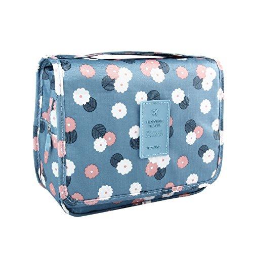 Sorliva (blue flower) Trousse sac de lavage sac de Voyage Organisateur imperméable à l'eau de toilette multifonction Wash Bag Sac de toilette cosmétiques sac de baignade