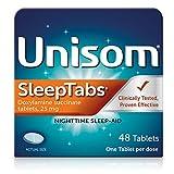Unisom Nighttime Sleep-Aid Doxylamine Succinate Tablets, 48 Count