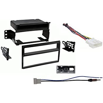 Aftermarket Radio Stereo Installation Install Mounting Trim Double Din Dash Bracket Kit Wire Harness /& Antenna Adapter Fits Nissan Versa 2007 2008 2009 2010 2011 2012