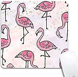 Mauspad - Benutzerdefinierte Flamingo Bild Niedliche Mausmatte Naturkautschuk rutschfeste kleine Mauspadmatte für Spiele oder Büro