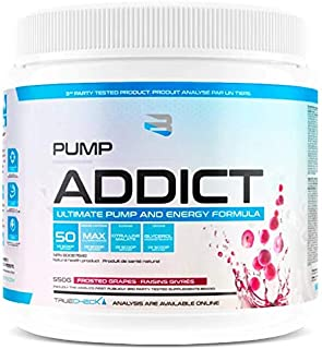BELIEVE Pump Addict Ultimate Pump and Energy Formula Frosted Grape, 550 g