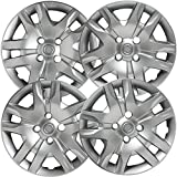 16 inch Hubcaps Best for 2010-2012 Nissan Sentra - (Set of 4) Wheel Covers 16in Hub Caps Silver Rim Cover - Car Accessories for 16 inch Wheels - Bolt On Hubcap, Auto Tire Replacement Exterior Cap