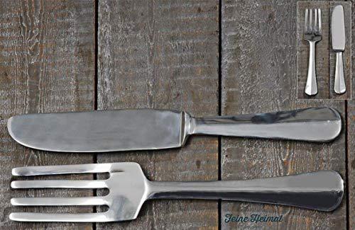 Wand-Objekt Messer und Gabel Set ca. 59 cm sortiert