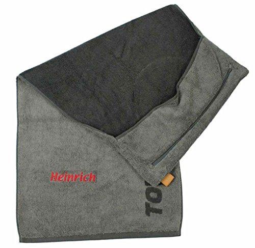 Towell | Towel Plus Fitness Handtuch mit Namen oder Wunschtext Bestickt