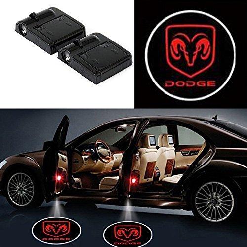 Bearfire Fit Dodge Door Lights 3PCS Car Door Projector Light Led Welcome Lights Car logo Suitable For All Models