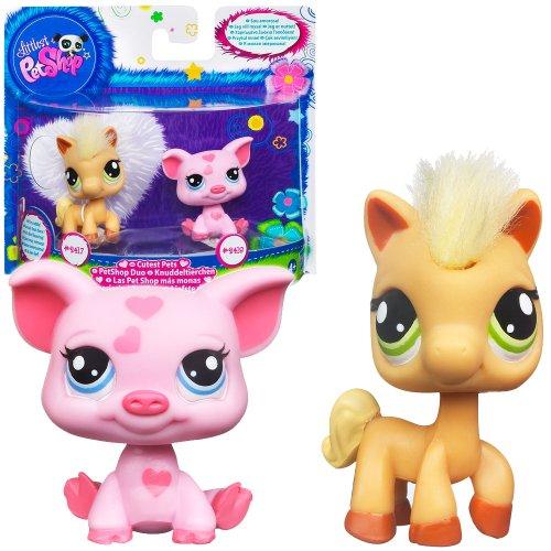 Littlest Pet Shop Cutest Pets Figures Soft Horse Pig