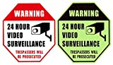 WISLIFE 24 Hour Video Surveillance Sign - This Area Under Video Surveillance...