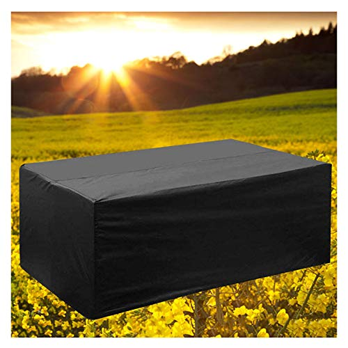 LITINGFC-Garden Furniture Cover,Rectangular Rattan Patio Furniture Covers,Patio Table Waterproof Cover Moisture-proof Waterproof Windproof (Color : Black, Size : 242x162x100cm)