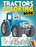 Tractor Coloring Book: A Fun Activity Book for Boys with 50+ Premium-Quality Drawings of Tractors, Bulldozers, Excavators, Trucks and more - For Kids Ages 2-4, 4-8 and Up (Kidd's Coloring Books)