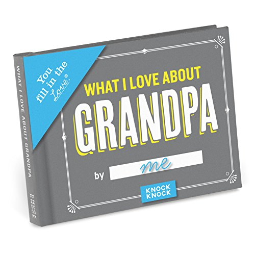 Knock Knock What I Love about Grandpa Fill in the Love Book Fill-in-the-Blank Gift Journal, 4.5 x 3.25-inches