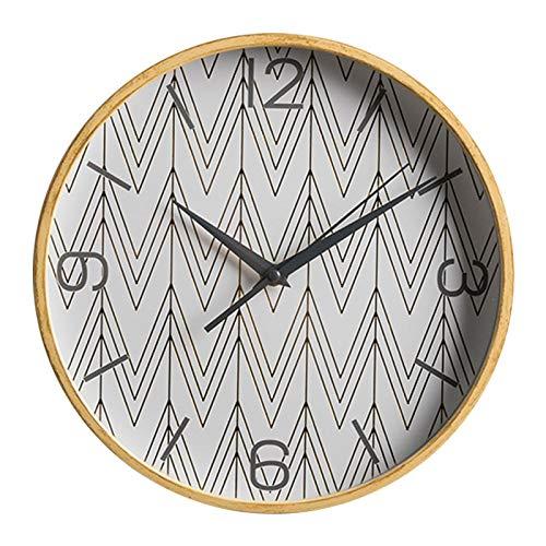 Everyday home Art minimaliste moderne nordique horloge murale silencieuse étude chambre créative décoration murale salon maison table (13 pouces) (Couleur : Geometric pattern wall clock B)