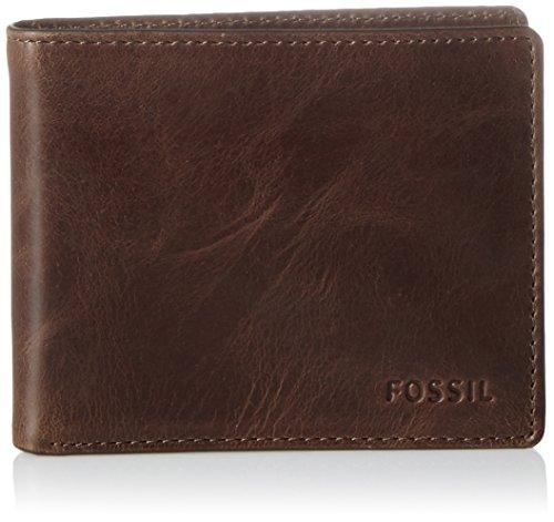 Fossil Herren Derrick Geldbörse, Braun (Dark Brown), 7x1.3x10.199999999999999 cm