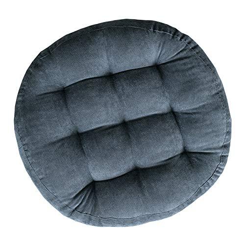 Rounde Stuhlkissen Sitzkissen, Morbuy Kissen Corduroy Tatami Volltonfarbe Weiche Komfortable Stühle Bodenkissen Sitzauflagen für Outdoor Haus Auto Bürostuhl (40cm/15.7in,Grau)