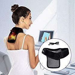 SIZIMA Neck Heating Pads, Neck Heating Wrap with 3 Heating Levels, Graphene Far-Infrared Heating Pad for Neck, USB-Powered, Heat Therapy for Pain Relief and Postoperative Recovery