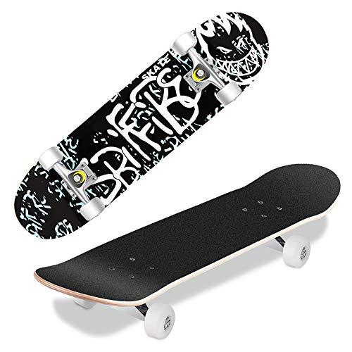 Hikole Completo Skateboard para Principiantes, Adolescentes, Niñas, Niños, Tabla de Crucero de...