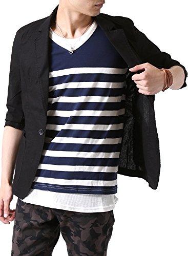 (アーケード) ARCADE 春夏 メンズ サマージャケット 綿麻 テーラードジャケット リネン 7分袖 細身 タイト ...