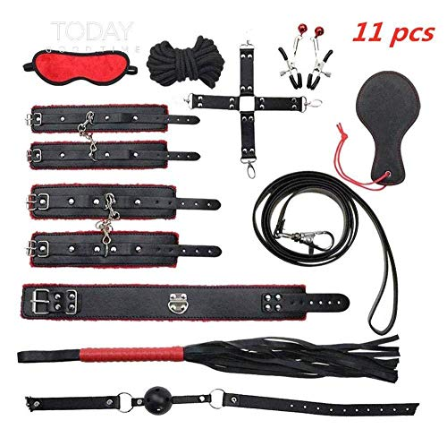 Generic 11 luxuriöse Lederspielzeuge für Brettspiele (rot und schwarz)