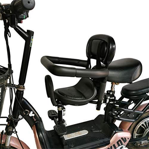 Dbtxwd Silla Delantera de Bicicleta eléctrica, Asiento de Bicicleta para niños, cojín de Silla de bebé Estable,A