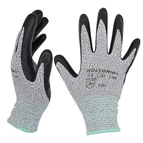 Hochwertige rutschfeste Arbeitshandschuhe Gartenhandschuhe mit Mikroschaum Nitrilbeschichtung, Nahtlose Nylon Strickhandschuhe, Touchscreen Handschuhe mit dehnbarer Passform, 1 Paar – Gr.7 / Medium