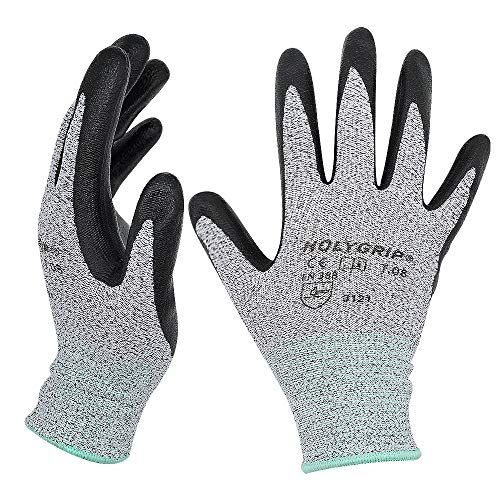 Hochwertige rutschfeste Arbeitshandschuhe Gartenhandschuhe mit Mikroschaum Nitrilbeschichtung, Nahtlose Nylon Strickhandschuhe, Touchscreen Handschuhe mit dehnbarer Passform, 1 Paar – Gr.6.5 / Small