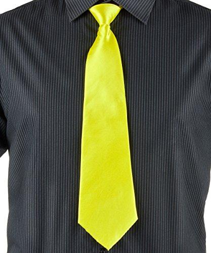 Party Pro- Cravate, Unisex-Adult, 3331, Jaune, Taille Unique
