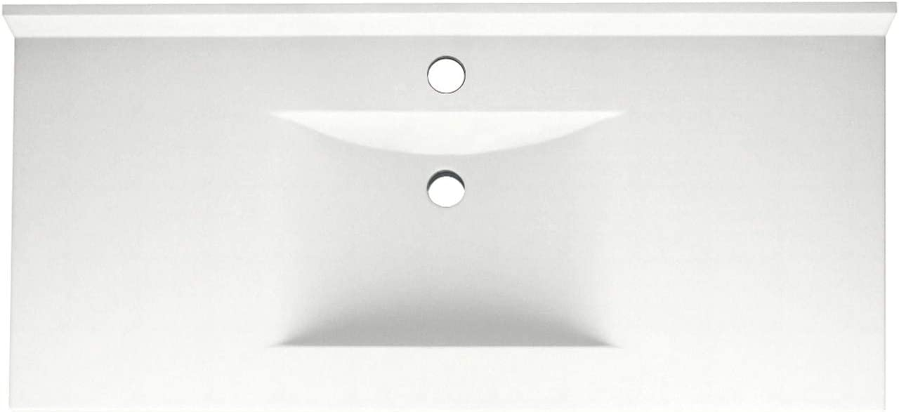 Swanstone Cv02243 010 Contour Solid Surface Single Bowl Vanity Top 43 In L X 22 In H X 6 25 In H White Touch On Kitchen Sink Faucets Amazon Com