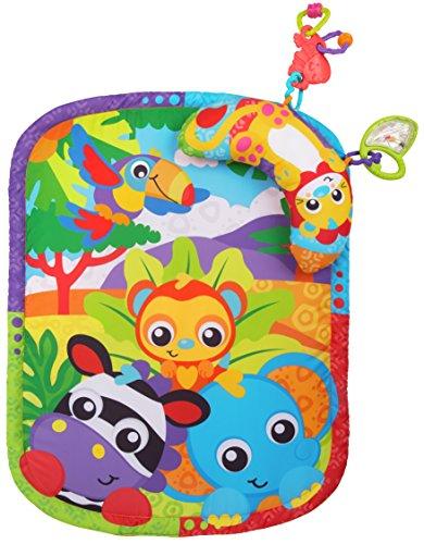Playgro Zoo Play Time Esterilla y almohada para bebé y niño pequeño 0186988, Playgro es estimulante la imaginación con STEM/STEM para un futuro brillante – Gran comienzo para un mundo de aprendizaje