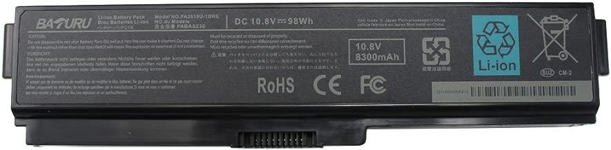 BATURU 12Cells PA3819U-1BRS PA3817U-1BRS Laptop Battery for Toshiba Satellite A665 A665-S5170 A665-S6086 A665-S6050 M645-S4050 M645-S4070 M505-S4940 L755-S5277 L775D-S7222 P755-S5265