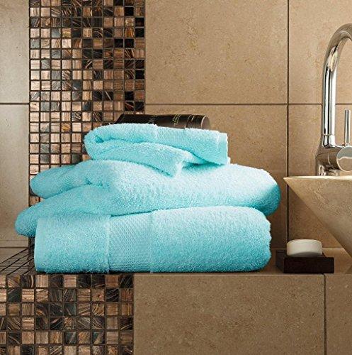 Gaveno Cavailia - Toalla de baño (algodón Egipcio, Absorbente, 700 g/m², 2 Unidades, 100 x 180 cm), Color Turquesa