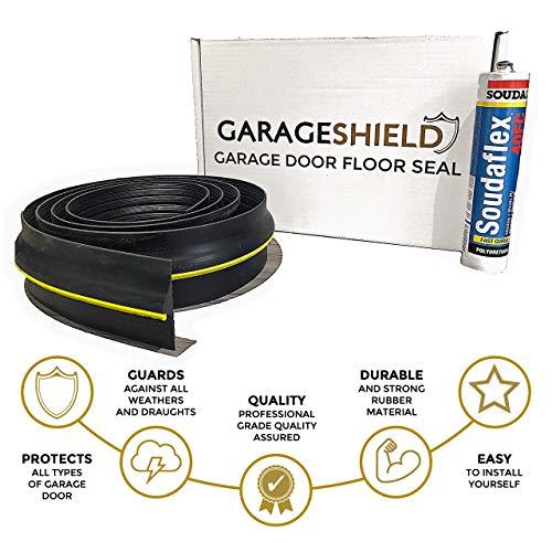 Guarnizione per pavimento della porta del garage, paraspifferi, include sigillante e guida...