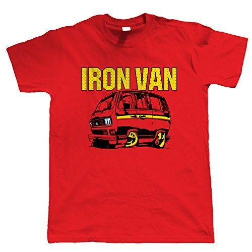 Iron Van, T25 Campervan T Shirt XXXL Red for sale  Delivered anywhere in UK
