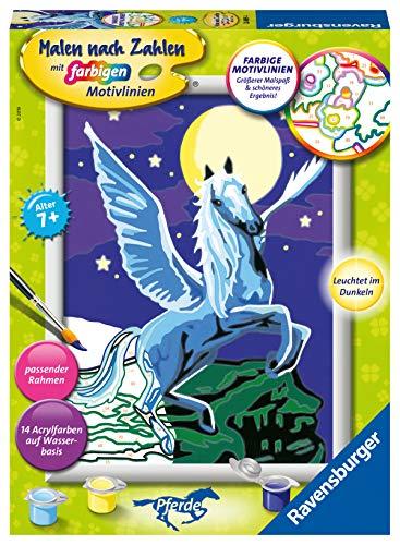 Ravensburger Malen nach Zahlen 28489 - Pegasus im Mondschein - Für Kinder ab 7 Jahren
