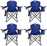 4-Pack Coleman Cooler Quad Chairs with Built-in Cooler, Black   4 x 2000020267