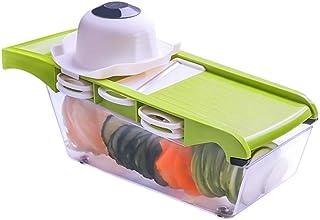 6 en 1 coupe de légumes ABS Boîte de rangement transparent ABS avec 5 trancheuse manuelle en acier inoxydable Cuisine spéc...