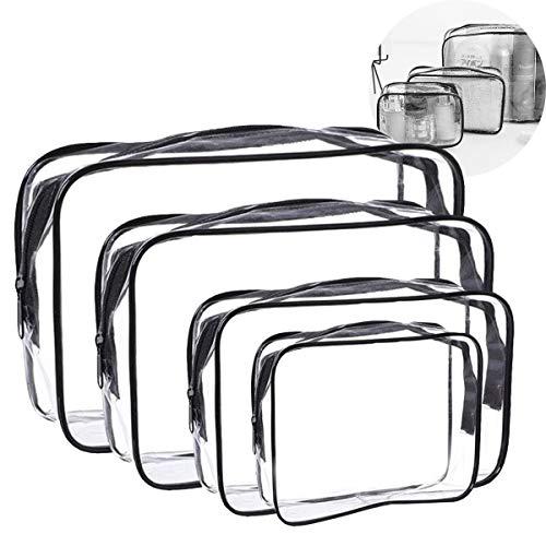 OSUTER 8PCS Borsa Cosmetici Trasparente da Viaggio PVC Borse da Toilette con Zip Impermeabile Cosmetici Trousse per Uomini e Donne Viaggio Cosmetica de conservazione