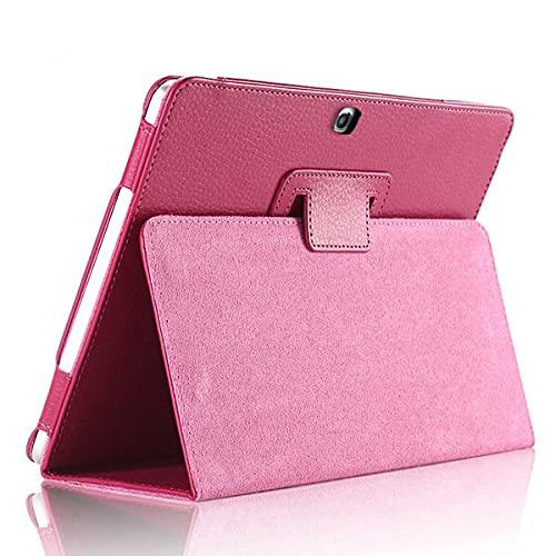 LIUCHEN Funda de tabletaFunda de Cuero PU Premium para Samsung Galaxy Tab 3 10.1 GT-P5200 P5210 P5220 Funda Delgada para Samsung Tab4 10 SM-T530 T531 T535, Rose, Tab 4 10.1 T530 T531