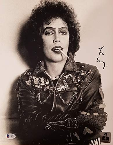 TIM CURRY Signed 11x14 Black/White Promo Photo ROCKY HORROR PICTURE SHOW BAS COA