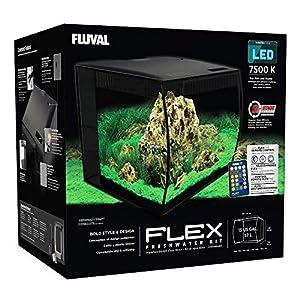 Fluval Hagen HG Flex Aquarium 57L, 15gal, Black