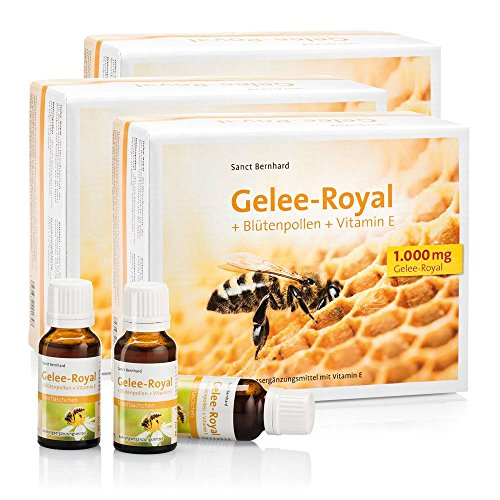 Sanct Bernhard Gelee Royal Trinkfläschchen Gelee-Royal, Blütenpollen, Vitamin E 1800 ml