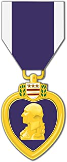MilitaryBest Purple Heart Medal 3.8 Inch Decal (2 Pack)