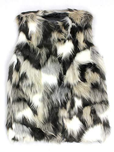 Fashion-Bag Cardigans & Vests - Faux Long Fur Vest – Multi Color - VT-9453-1