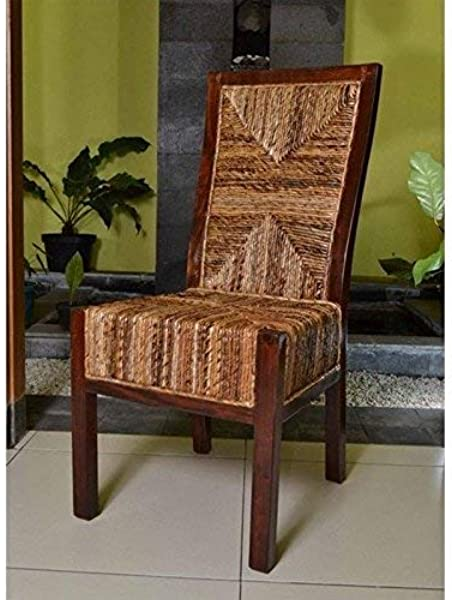 International Caravan SG 3306 2CH IC Furniture Piece Set Of Two Dallas Abaca Weave Dining Chair