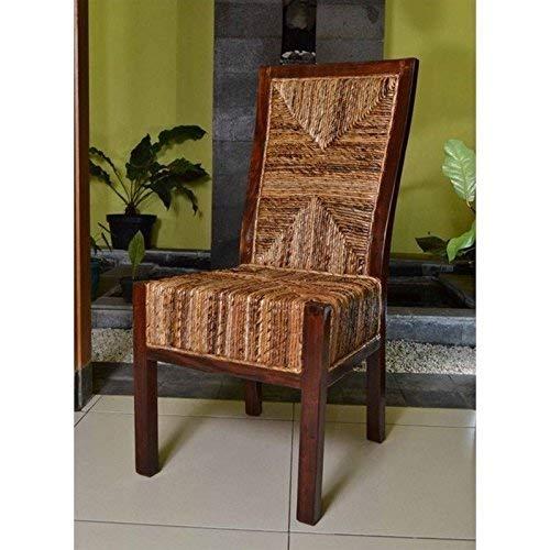International Caravan Furniture Piece Set of Two Dallas Abaca Weave Dining Chair