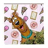 Scooby Doo Duschvorhang, Cartoon-Motiv, niedlicher & lustiger Badvorhang, wasserdicht, mit 12 Haken, 183 x 183 cm
