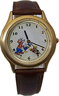 Disney Mickey Mouse Watch Clutching Second Hand with Goofy and Donald