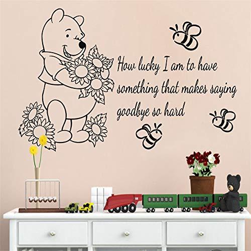 Stickers Mural Autocollant Devis Winnie L'Ourson Pour Chambre D'Enfants Bébé Chambre Décor Pépinière Décor À La Maison
