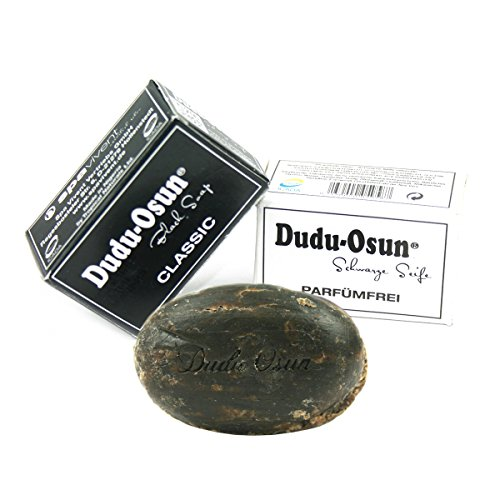 Dudu Osun – Connaissez Kit d'apprentissage 1 x DUDU Osun Classic – Original Savon de l'Afrique Noire – Original Black Soap de 25 g + 1 x de Savon Noir Sans Parfum Fragrance Free 25 g