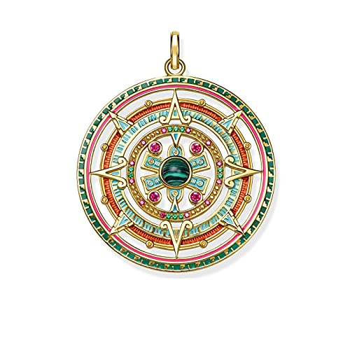 Kkoqmw Colgantes de Oro mítico Azteca joyería Vintage 925 Accesorios de Plata esterlina Potente Regalo mágico para Mujeres
